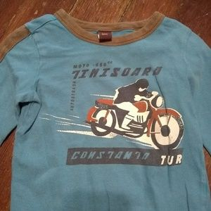 Tea collection blue motorcycle shirt